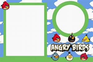 Angry birds with clouds free printable invitations oh for Angry birds birthday party invitation template free
