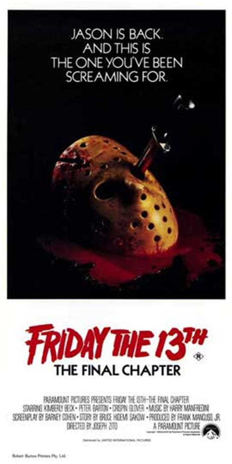 Part 4 Poster Friday The 13th Part 4 The Chapter Posters
