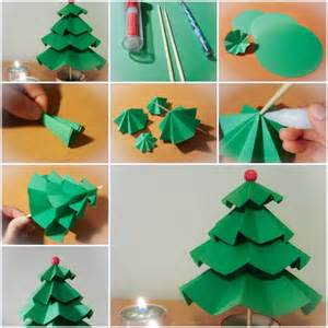 how to make simple paper christmas trees step by step diy tutorial instructions thumb how to