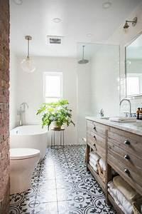 Plante Verte Salle De Bain : 1001 id es d co de salle de bain r tro ~ Melissatoandfro.com Idées de Décoration