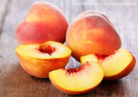 Fast and Easy Peach Freezer Jam - One Hundred Dollars a Month