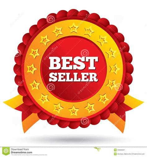 best seller pr best seller label with and ribbons stock image