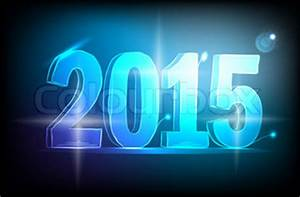Happy new year 2015 neon Lights Stock