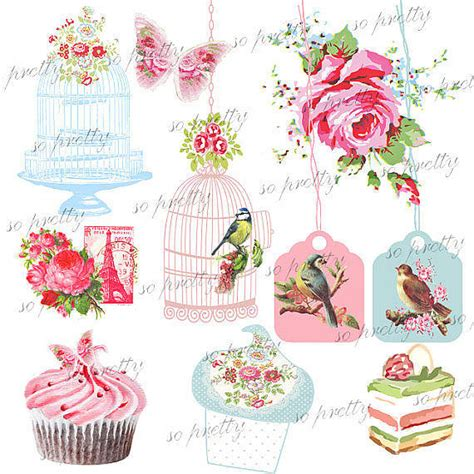 free shabby chic printables printable shabbychic elements kit by beautiful day notonthehighstreet com
