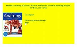 Anatomy Of Exercise For 50 Pdf