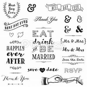 Typographie De Mariage Dessinés à La Main Clipart vectoriel Thinkstock