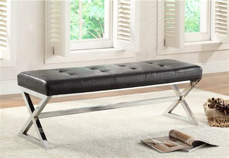 Black X Bench by Home Elegance Rory Black X Base Bench The Home
