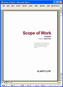 Employee Work Plans Scope Of Work Template Ms Word Excel Templates Forms