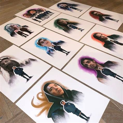 El set completo de la Academia del Paraguas. Pintura ...