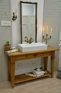 Badmöbel Holz Landhausstil : waschtisch holz landhausstil ~ Markanthonyermac.com Haus und Dekorationen
