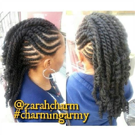 Twisted Mohawk Hairstyle by Flat Twist Mohawk Protective Styles In 2019 Braided