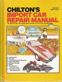 chiltons import auto repair manual