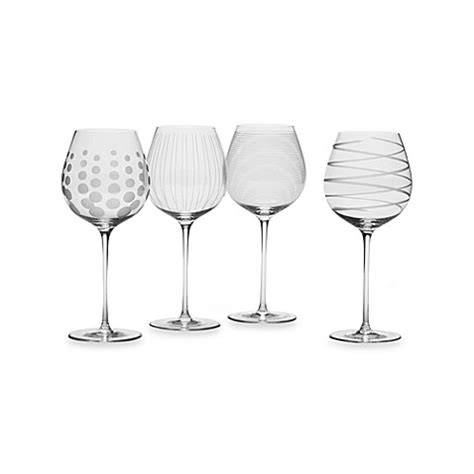 Mikasa Barware by Mikasa 174 Cheers 21 Oz White Wine Glasses Set Of 4 Bed