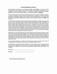 39blank39 actor contract With acting contract template