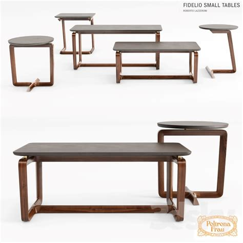 modern table 3d models table poltrona frau fidelio small tables 1