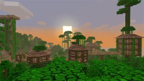 jungle treehouse complex map  survival mode minecraft java edition minecraft