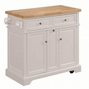Shop Tresanti Summerville White Adjustable Kitchen Cart at