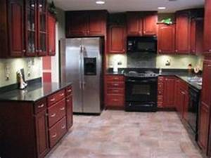 cherry cabinets porcelain tiles and cherries on pinterest With best brand of paint for kitchen cabinets with candles holders wholesale