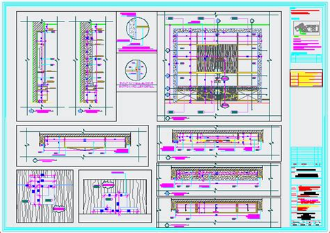 wall tv alcove detail dwg detail  autocad designs cad