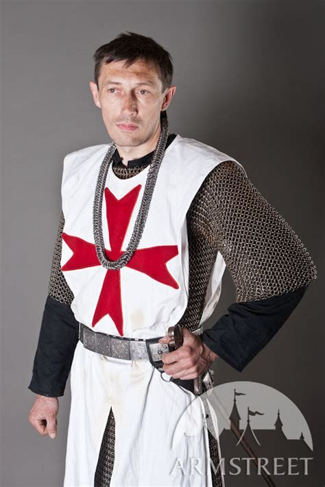 knight crusader templar tabard  red cross  sale
