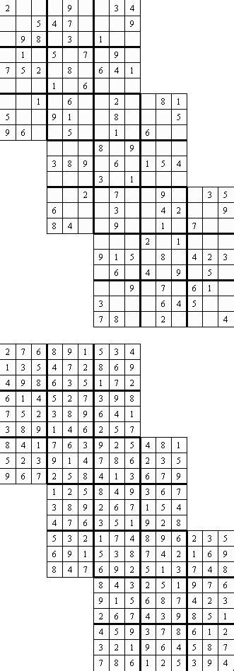 samurai sudoku zum ausdrucken