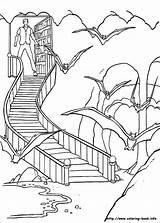 Coloring Batman Batcave Info Pages sketch template
