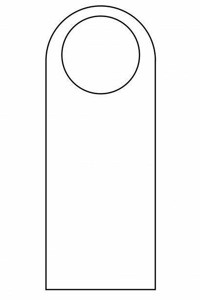 Hanger Door Template Templates Outline Printable Knob