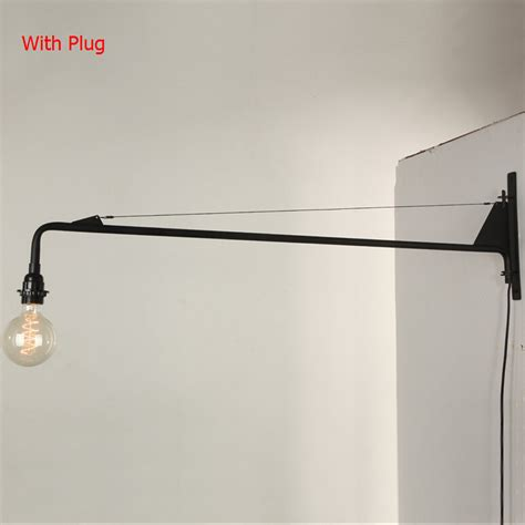vintage american country led wall l loft potence wall