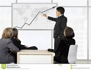 Stock Growth Chart Corporate Online Trainning Man Presenting Stock Photo