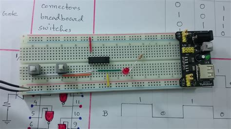 Digital Electronics Circuit Breadboard Nand Logic Gate