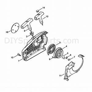 Stihl Ms 192 Chainsaw  Ms192tc  Parts Diagram  Rewind Starter