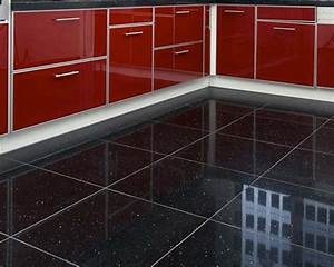 Quartz Stone Midnight Black Quartz Floor Tiles From Tile