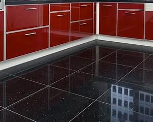 Quartz Stone Midnight Black - Quartz Floor Tiles from Tile ...