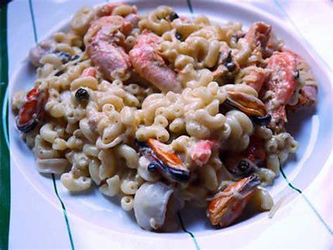 recette de coquillettes aux fruits de mer par fanfan