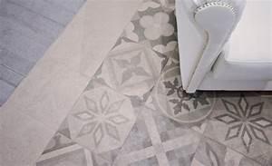 carrelage effet carreaux de ciment With sol stratifié imitation carreau de ciment