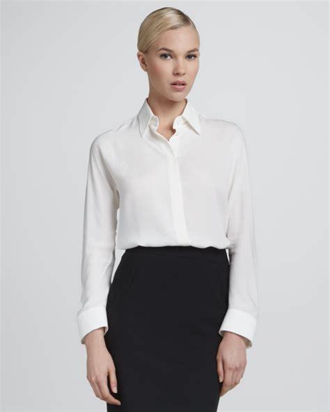 silk white blouse giorgio armani silk button blouse ivory where to