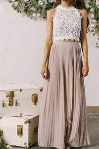 Who to Wear Long Accordion Skirt With Crop Top u2013 Designers Outfits Collection