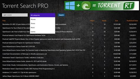 torrent pro windows client bittorrent site torrents app date trackers specify choice category bestwindows8apps
