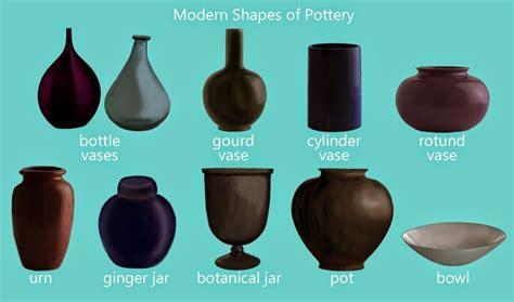 Different Vase Shapes pottery and vase shapes botanicals pottery