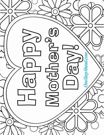 Coloring Mother Pages Mothers Sheets Printable Happy