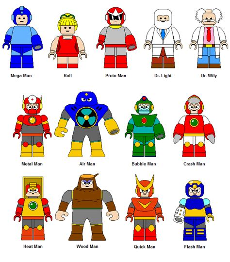 Lego Mega Man Characters 2 By Gamekirby On Deviantart
