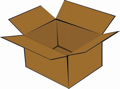 Box Cardboard Clip Clker Packing Clipart Cliparts