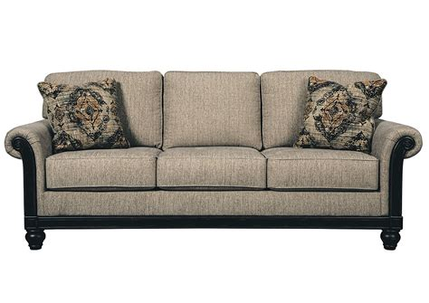 signature design by living room furniture nw blackwood taupe sofa