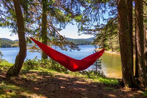 Best Way To Hang A Hammock Between Trees by Beyond The Tent Family Cing Adventures