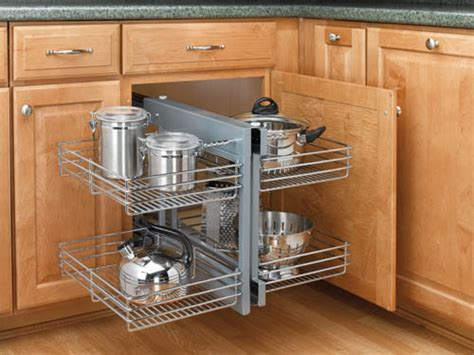 Blind Corner Cabinet Slides All The Way Out For Easy