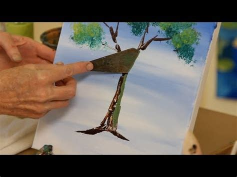 How To Use A Palette Knife  Acrylic Painting Youtube
