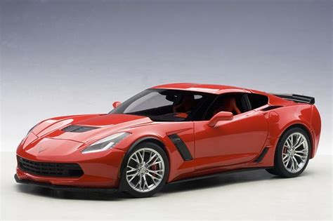 corvette  torch red diecast model   scale