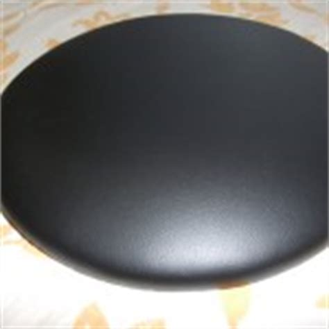 galette de chaise ronde en cuir