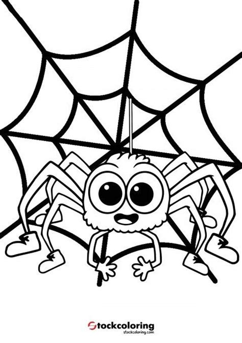 Itsy Bitsy Spider Coloring Page #spidercoloringpage #