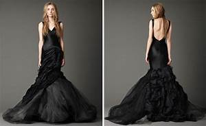 elegant vera wang black wedding dress with v With vera wang black wedding dress